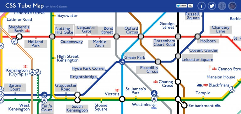CSS Tube Map