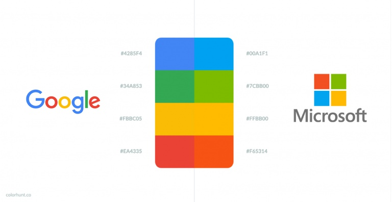 Is There Any Difference Between Google's & Microsoft's Colors?